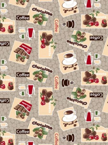 Вафельное полотно. Шоколад и кофе