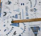 Бязь Ranforce голубые и серые вигвамы