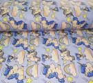 Бязь Ranforce сонные единорожки на голубом фоне
