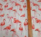 Перкаль. Фламинго на белом фоне