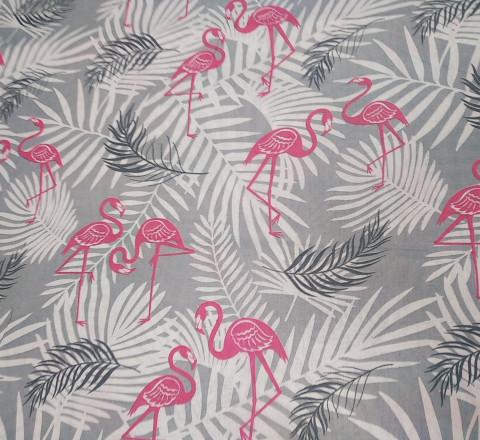 Бязь детская. Фламинго и папоротник