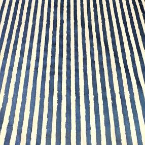 Бязь Ranforce с глиттером синие полоски