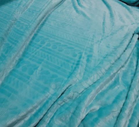 Плюш имитация вязанного полотна мятный