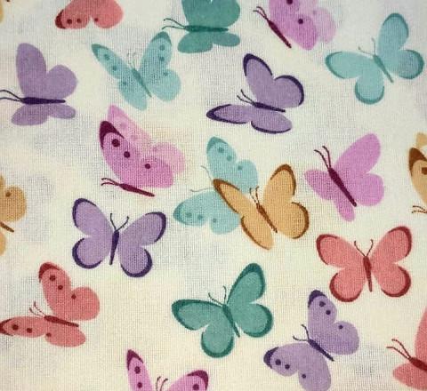 Фланель. Бабочки