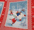 Вафельное полотно. Санта Клаус