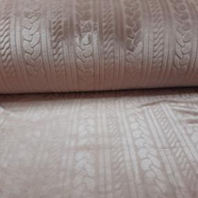 Плюш имитация вязанного полотна светло-коричневый