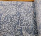Бязь Ranforce восточные огурцы на фоне голубой-деним с эффектом старины