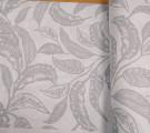 Бязь Ranforce  серые листья на белом фоне