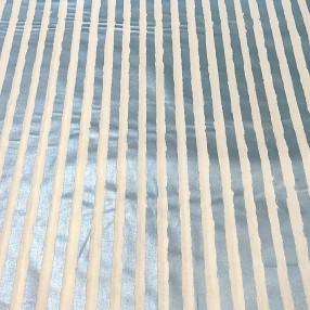 Бязь Ranforce с глиттером голубые полоски