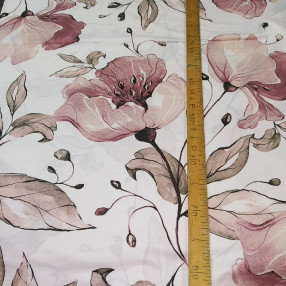 Бязь Ranforce крупные пыльно-розовые цветы