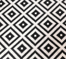Бязь Ranforce черно-белые ромбы