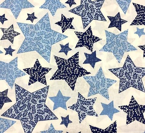 Бязь Ranforce  сине-голубые звезды