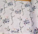 Бязь Ranforce синие цветочки на голубом фоне основной