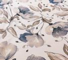 Бязь Ranforce крупные серые цветы