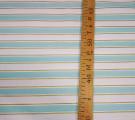 Бязь Ranforce с глиттером мятно-золотые полосы