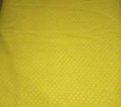 Бязь модная. Белый горох на ярко-желтом фоне