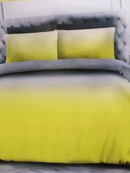 Сатин. Градиент серый+желтый