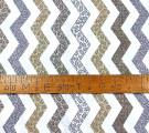 Бязь Ranforce серо-коричневый зигзаг