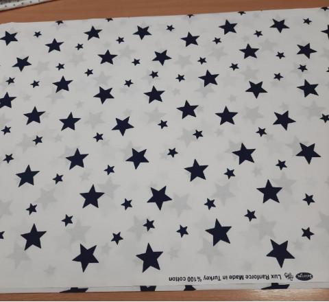 Бязь Ranforce синие звезды крупные и средние