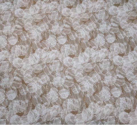 Бязь Ranforce белые круги на коричневом фоне