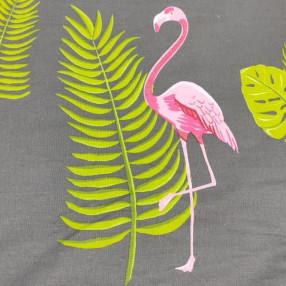 "Поплин ш220см.  ""Розовый фламинго"""