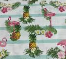 Муслин Фламинго и ананасы