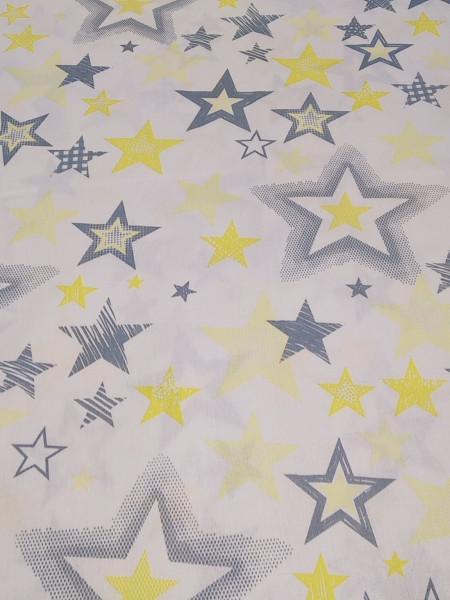 Бязь Ranforce серо-желтые звезды разные