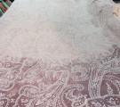 Бязь Ranforce  восточные огурцы на трюфельно-пыльнорозовом фоне с эффектом старины