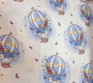 Фланель. Жирафики на воздушных шарах