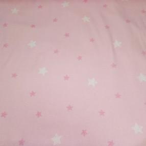 Фланель. Звезды на розовом фоне