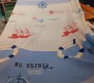Бязь Ranforce морская тема, красные парусники
