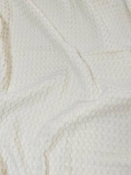 Вафельное полотно ш240см. Цвет: Кремовый с фисташковым оттенком