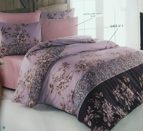 Бязь Ranforce розы на фиолетовом