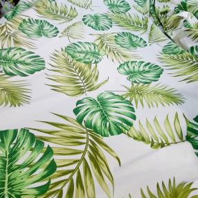 Бязь Ranforce  Монстера и папоротник; зеленый и салатовый цвет