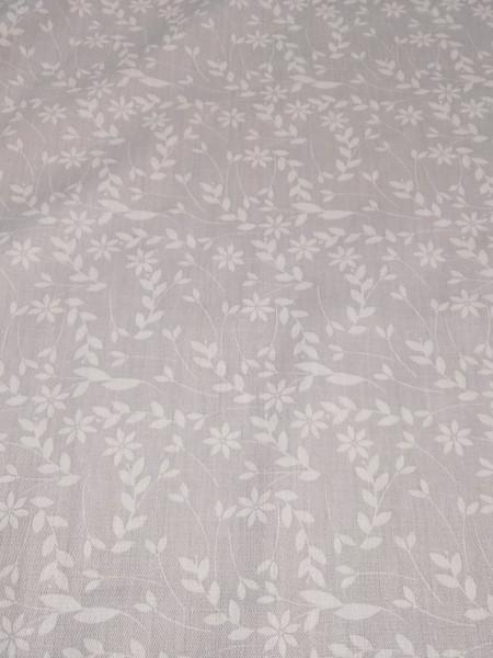 Сатин-твил. Серые цветы на сером