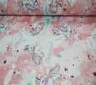 Бязь Ranforce с глиттером Пони на розовом