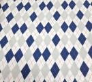Фланель. Синие ромбы
