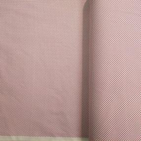 Бязь Ranforce ярко-розовые горошки на белом фоне маленькие частые