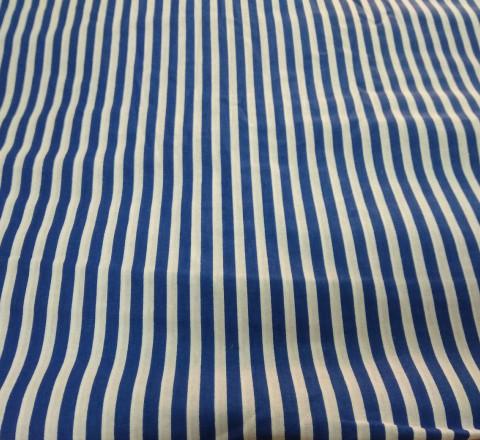 Бязь модная. Сине-белая полоса широкая