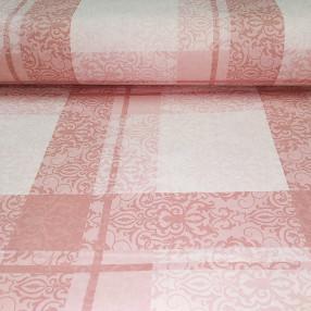 Бязь Ranforce узорная клетка, цвет пыльно-розовый