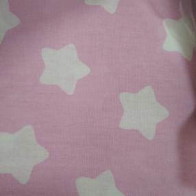 Бязь модная. Белые пряники на розовом фоне