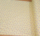 Бязь Ranforce мелкие розочки на жёлтом фоне
