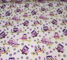 Фланель. Совы фиолетовые
