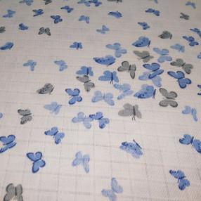Муслин Голубые бабочки