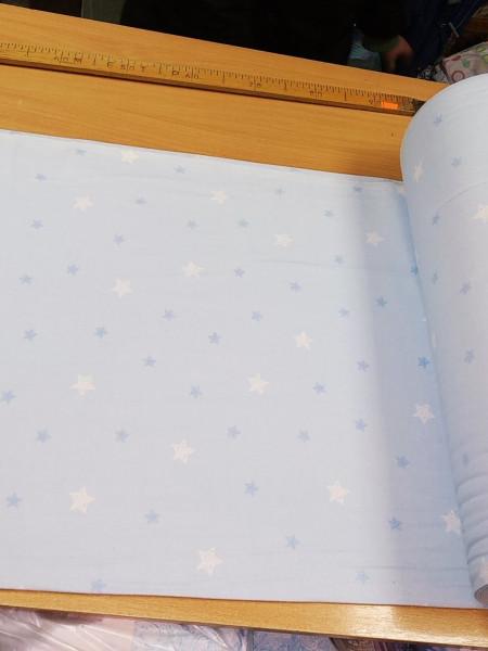 Фланель. Звезды на голубом