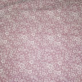 Бязь Ranforce мелкие цветочки на фиолетово-сером фоне