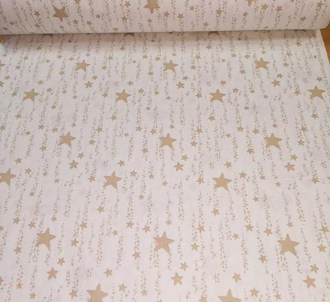 Бязь Ranforce звездная дорожка цвет карамель