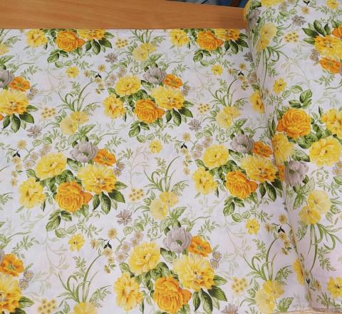 Бязь Ranforce желтые цветы