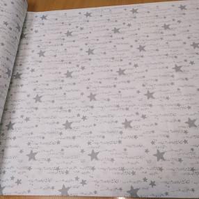 Бязь Ranforce звездная дорожка цвет светло-серый