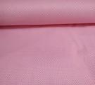 Бязь Ranforce белые горошки на розовом фоне маленькие частые
